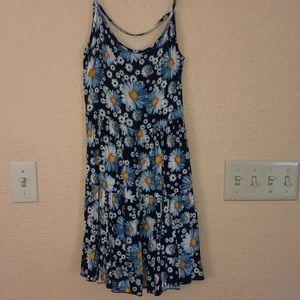 Spaghetti strap floral summer dress
